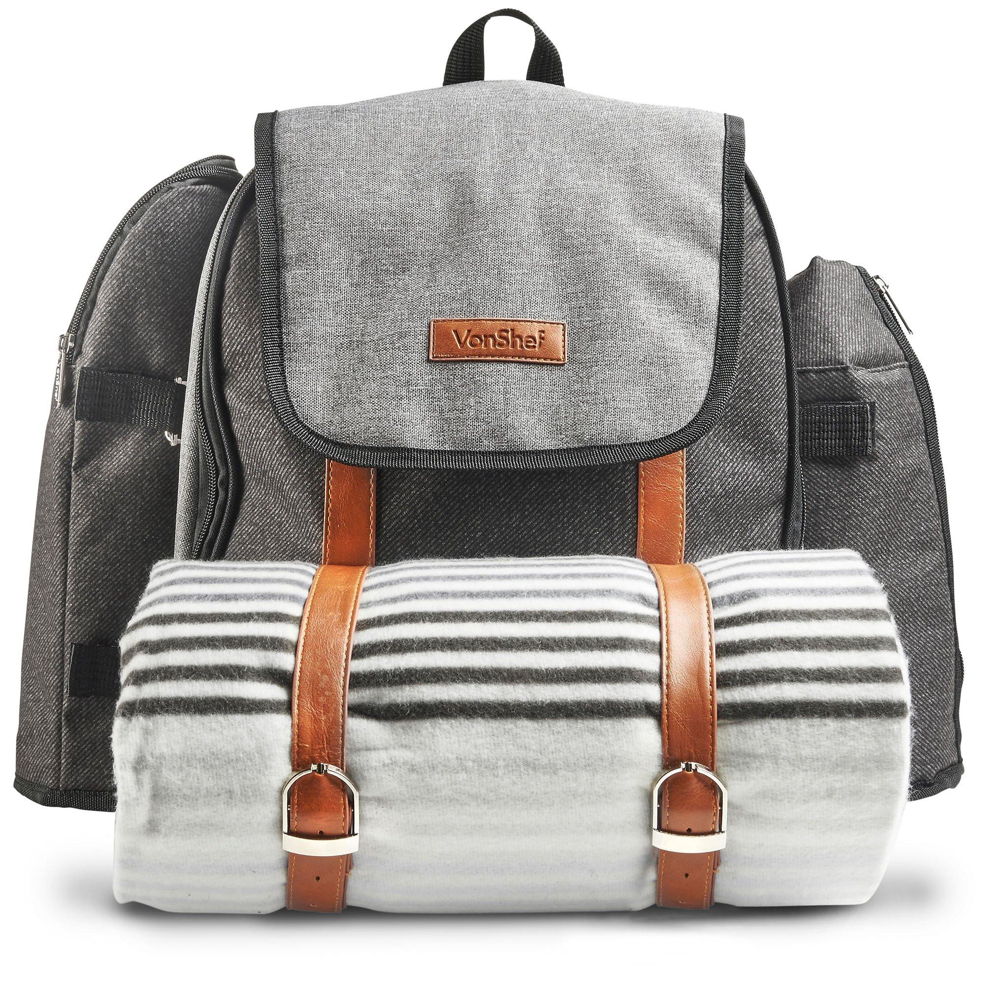 VonShef Premium Outdoor Backpack Blanket