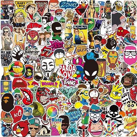 Aufkleber Pack 150 Pcs Q Window Graffiti Decal Vinyl Stickers Für Koffer Laptop Skateboard Kinder Auto Motorrad Fahrrad Snowboard Iphone Xbox One Nintendo Bomb Comic Aufkleber Sticker Wasserdicht Auto