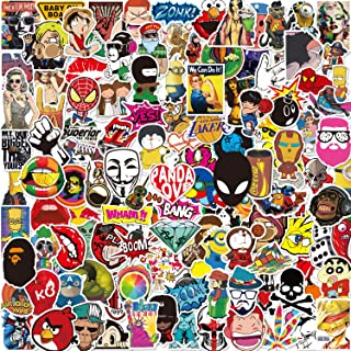 Pack Pegatinas [150-PCS],Q-Window Stickers Vinilo Graffiti Calcomanías Pegatina para Coche Moto Infantiles Pared Teclado I...