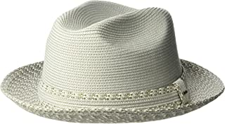 Bailey of Hollywood Mens 81695 Mannesroe Braided Fedora Trilby Hat Fedora - Gray