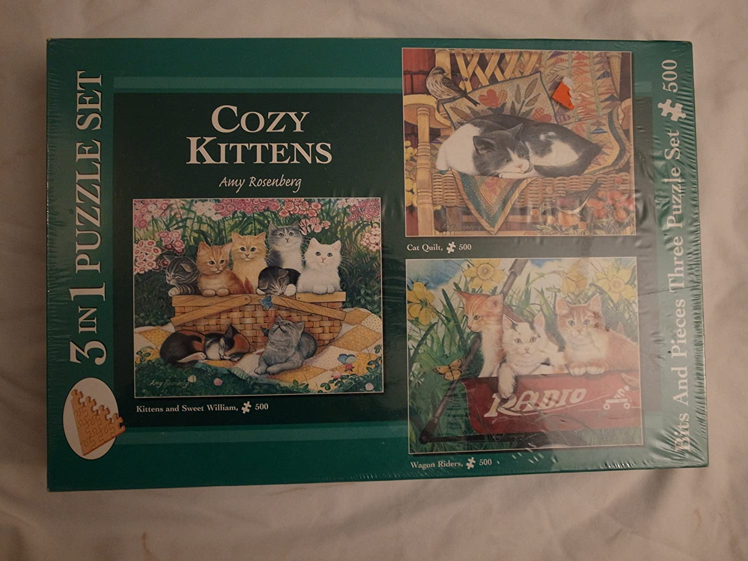 3 Al sold out. in 1 Puzzle Cozy Kittens Courier shipping free shipping Set