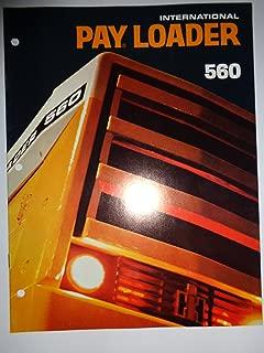 IH International 560 Pay Loader Payloader Sales Brochure 11/71