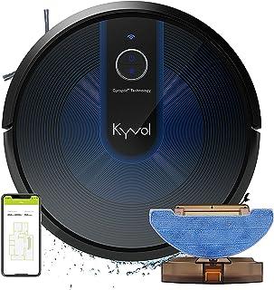 KYVOL Robot Aspirapolvere Lavapavimenti Senza Filo, Robottino Aspirapolvere Robot Supporta Alexa, Lavapavimenti Robot per ...