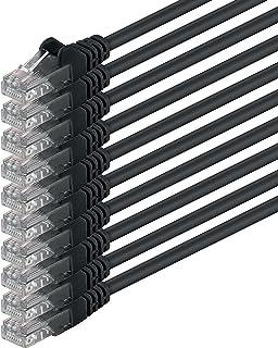 Cat6 3m svart 10 delar nätverkskabel patchkabel Cat6 Lan-kabel 1000 Mbits Ethernet Lan svart 10 delar kompatibel med CAT5 ...