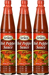 Grace Hot Pepper Sauce 3oz Pack of 3