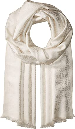 Tory Burch - Lurex Traveler Oblong Scarf