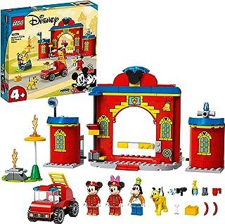 LEGO 10776 Disney Mickey & Friends brandweerkazerne & auto, Brandweerauto Speelgoed voor Peuters