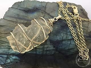 libyan gold tektite pendant