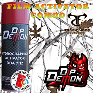 Hydrographic Film Combo Kit True Timber Conceal Snow Camo Camouflage Winter Hydrographic Water Transfer Film Activator Combo Kit Hydro Dipping Dip Demon