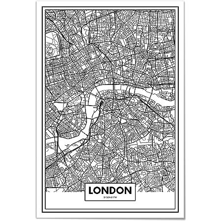 Cartina Geografica Di Londra Da Stampare.Panorama Poster Stampe Da Parete Mappa Di Londra 21x30 Cm Stampato Su Carta 250gr Alta Qualita Quadri Moderni Soggiorno Stampe Da Parete Moderne Per Incorniciare Decorazione Parete Amazon It