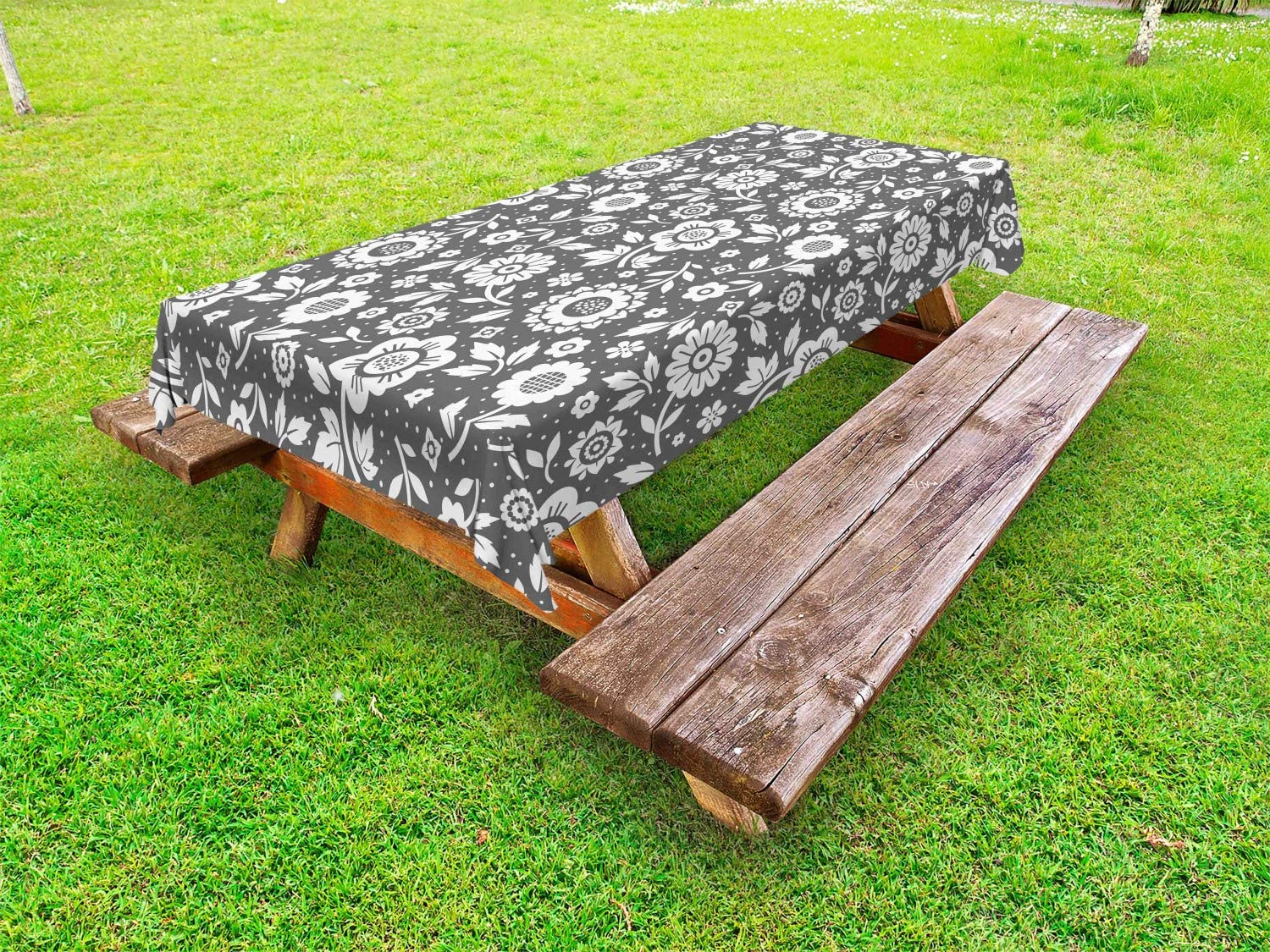 Large-scale sale Ambesonne Floral Outdoor Tablecloth Garden Spring Theme Blossom Fixed price for sale