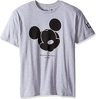 x Neff Mickey Mouse Mens Short Sleeve T-Shirt, Athletic Heather, Medium