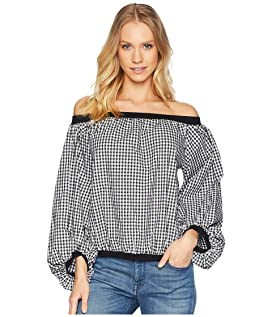 Off Shoulder Blouson Sleeve Top