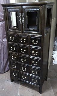 Antique armoire à pharmacie Armoire Armoire de bureau Pharmacie Armoire Commode Commode Armoire Buffet à 15tiroirs breite...