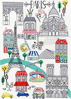 Bothy Threads Love Paris Counted Cross-Stitch Kit