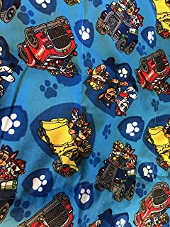 CUSTOM TODDLER WEIGHTED BLANKET with Paw Patrol flannel and 3-5 lbs
