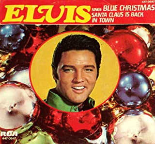 Elvis Presley - Blue Christmas / Santa Claus Is Back In Town - 45 vinyl & picture sleeve - RCA 447-0647