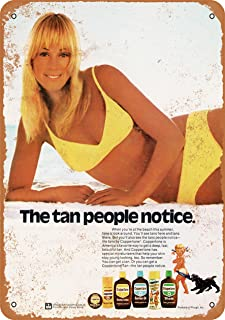 Wall-Color 10 x 14 Metal Sign - 1973 Coppertone Sun Tan Lotion - Vintage Look
