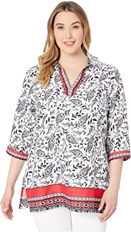 Plus Angel Paisley Tunic