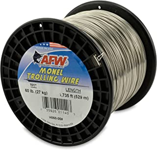 American Fishing Wire Monel Trolling Wire, 60-Pound Test/0.79mm Dia/528m