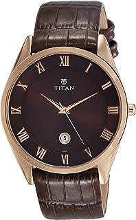 Titan Analog Brown Dial Men's Watch-NL90054WL01 / NL90054WL01