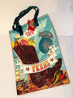 Trader Joe's Reusable Shopping Bag Texas Theme