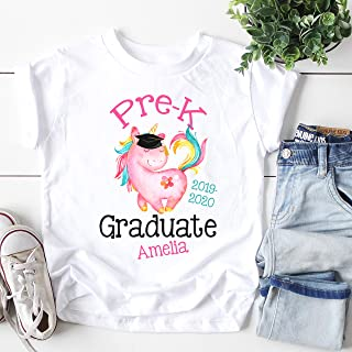 Pre K Graduation Shirt Personalized Gift for Girl
