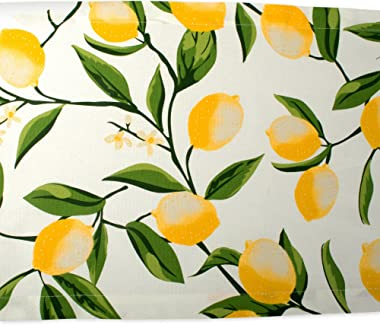 DII Cotton Table Runner for Dinner Parties Spring Wedding & Everyday Use, 14x72, Lemon Bliss
