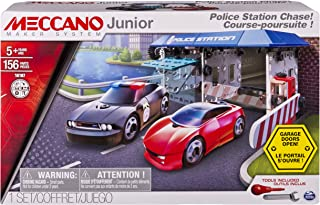 Meccano Junior - Police Station Chase Model Building Set, 156 Pieces, For Ages 5+, STEM Construction Education Toy