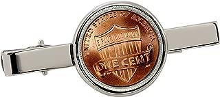 American Coin Treasures Lincoln Union Shield Penny Silvertone Coin Tie Clip