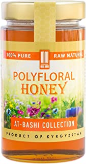 Polyfloral Mountain Honey (17.6 Ounce); Natural Wildflower Mountain Honey from Central Asia – by Mira Nova
