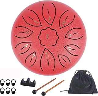 Steel Tongue Drum 11 Notes 6 Inches Dia Lotus type Steel...