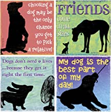 Thirstystone Stoneware Coaster Set, Friends Come in All Sizes
