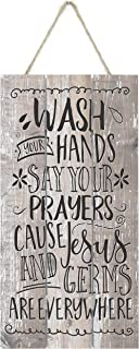 Best wash your hands and say your prayers wood sign Reviews