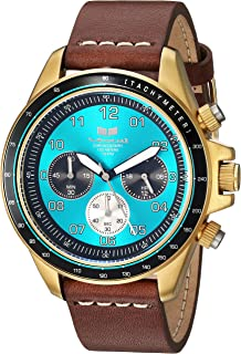 Vestal 'ZR2' Quartz Stainless Steel and Leather Casual Watch, Color:Brown (Model: ZR243L23.BRWH)