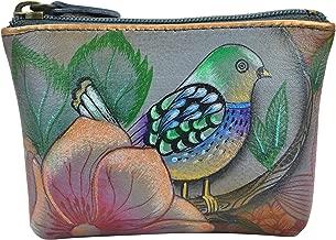 Anuschka Women's Leather Coin Purse | Genuine Soft Leather | Hand-painted Original Art