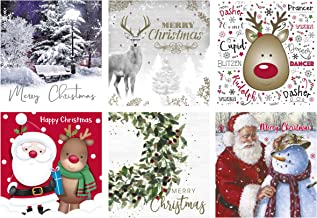Star Online Christmas Cards Bumper Box 30 Assorted Xmas Cards - 6 Designs Cute & Traditional & Envelopes