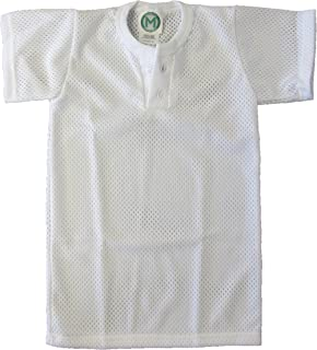 EMC Sports Unisex Two Button Youth Mesh jersey, White, Small
