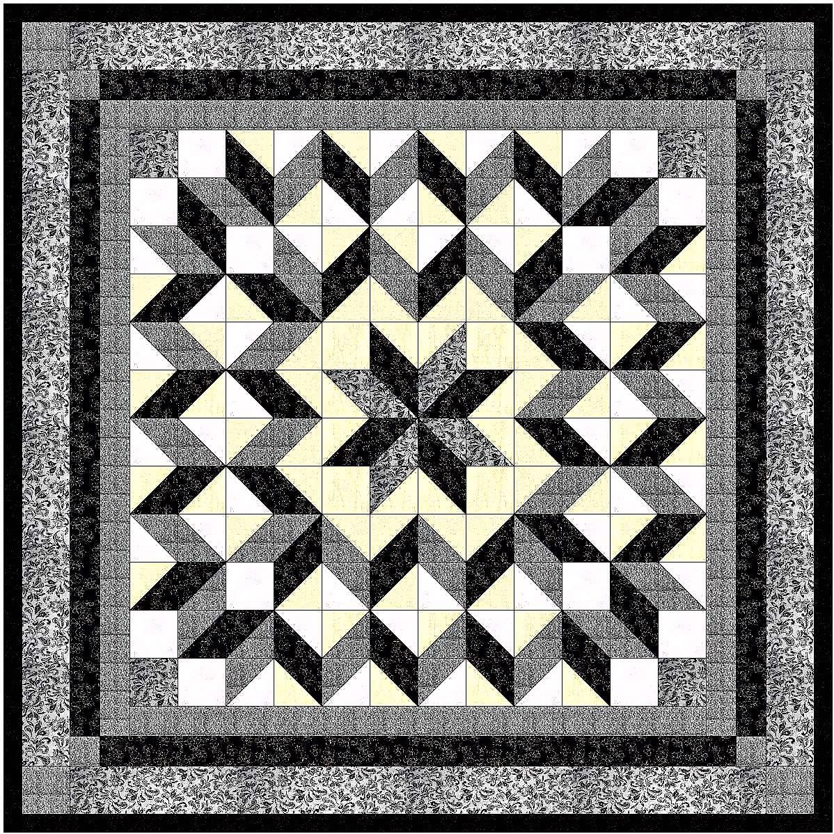 Easy Quilt New color Galaxy Star Black and 2021 model to White Ready Neutrals Precut