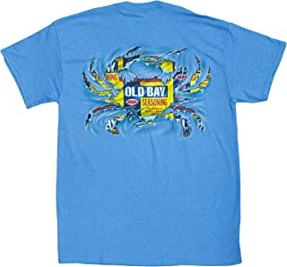 Men's Officially Licensed Old Bay Ripped Crab T-Shirt (Blue)