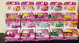 Shopkins Cutie Cars - Set of 10 - Choc Chip Racer, Popcorn Moviegoer, Donut Express, Traveling Taco, Banana Bumper, Bumper Burger, Jelly Joyride , Milk Moover, Ice Cream Dream Car & Frozen Yogurt