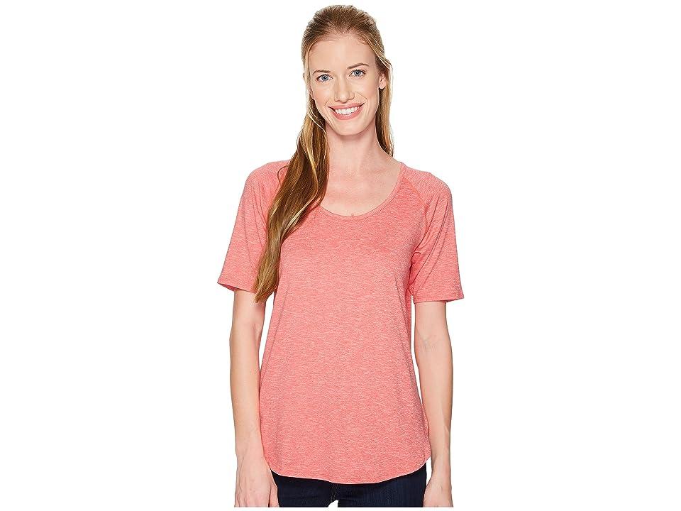 Columbia Wander More Short Sleeve Tee (Blush Pink Heather) Women