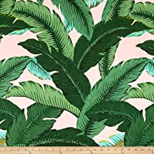 pink palm fabric