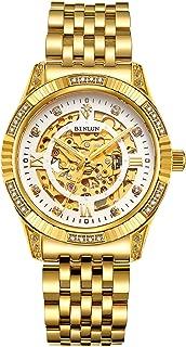 BINLUN 18K Gold Men's Wrist Watch Tourbillon Mechanical Automatic Watches