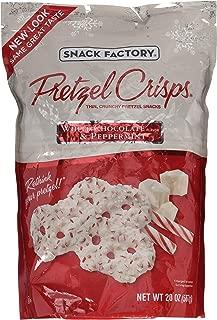 Snack Factory Pretzel Crisps White Chocolate & Peppermint Flavor (Large 20 Oz Bag)