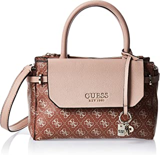 Guess Satchel Bag for Women- Beige/Brown