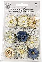 Prima Marketing 636616 Georgia Blues Mulberry Paper Flowers 9/Pkg-Montgomery