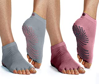 Gaiam Grippy Toeless Yoga Socks   2 Pack   Non Slip Grip Accessories for Standard or Hot Yoga, Barre, Pilates, Ballet or a...