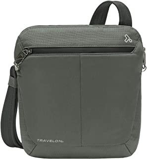 Travelon Anti-Theft Active Small Crossbody, Charcoal, One Size