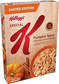 (Discontinued Version) Kellogg's Special K, Breakfast Cereal, Pumpkin Spice, Limited Edition, 12.4oz Box